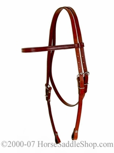 Fabtron Browband Headstall--Chestnut 70212