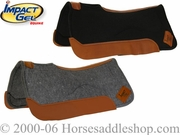 "Felt Contour Gel Saddle Pad by Impact Gel 32""L x 32""D c3f32"