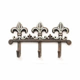 Fleur de Lis Triple Hook with Crystals 94069