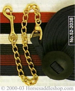 German Cord Cotton Flat Lunge Line ijt52-2035