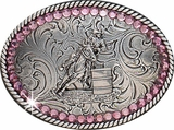 Girls Barrel Racers Belt Buckle by Nocona