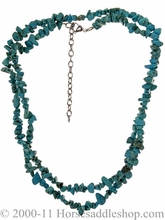 Green Stone Turquoise Western Necklace from M & F 29346