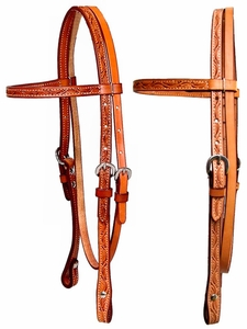 Headstall - floral by Billy Cook hsbi11-951