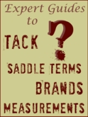 Help on Tack and Western Saddle terms , brands and measurements