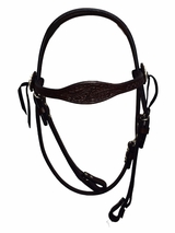 Julie Goodnight Leaf with Border Browband Headstall