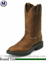 "SOLD 2015/01/06 Justin 11"" Aged Bark Western Boots 4865"
