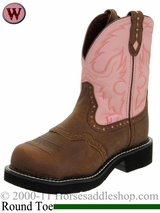 Justin Boot Womens Pink Top Cowboy Boot - Protected Toe 9981