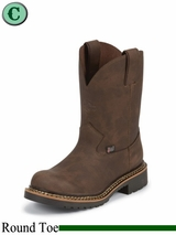 Justin Boots Kid's Bay Gaucho Cowhide Work Boots 4444JR