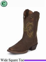 Justin Boots Kid's Brown Cowhide Stampede Boots 2523JR
