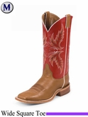 Justin Boots Men's Bent Rail Brandy Burnished Calf Boots BR300