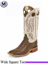 Justin Boots Men's Bent Rail Chocolate Burnished Calf Boots BR301
