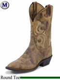 DISCONTINUED Justin Boots Men's Bent Rail Puma Tan Boots BR210
