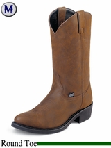Justin Boots Men's Farm & Ranch Brown Crazy Cow Boots JB1100