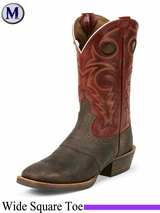 Justin Boots Men's Silver Collection Chocolate Buffalo Boots SV2532