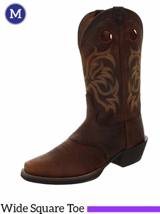 Justin Boots Men's Western Dark Brown Rawhide Boots 2523