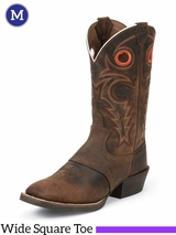 Justin Boots Men's Silver Collection Whiskey Buffalo Boots SV2534