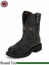 Justin Boots Women's Black Pebble Grain Gypsy Waterproof Work Boots WKL9982