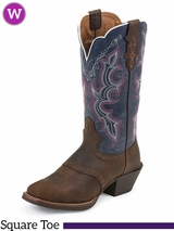 Justin Boots Womens Dark Brown Rawhide Boots L7305 ZDS