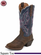 Justin Boots Women's Dark Brown Rawhide Boots L7305