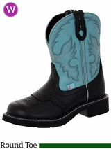 Justin Boots Women's Justin Gypsy Black Deer Cow Boots L9905