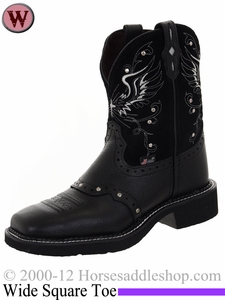 Justin Boots Women's Justin Gypsy Black Deercow Boots L9977