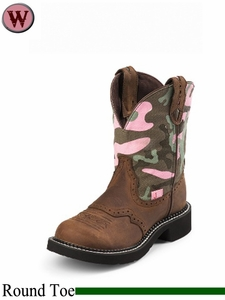 Justin Boots Women's Justin Gypsy Pink Camo Ages Bark Boots L9913
