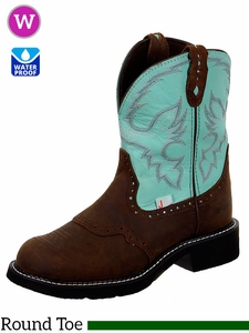 Justin Boots Women's Justin Gypsy Turquoise Cow Boots L9915