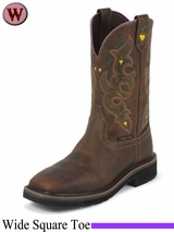 Justin Boots Women's Rugged Tan Stampede Work Boots WKL4664