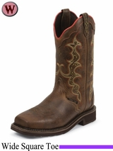 Justin Boots Women's Rugged Tan Stampede Work Boots WKL8001