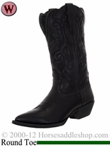 Justin Boots Women's Stampede Western Black Deercow Boots L2553