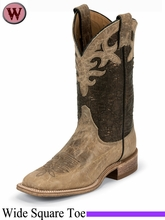 Justin Boots Women's Western Antique Beige Cowhide Boots BRL318