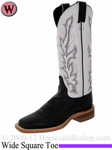 Justin Boots Women's Western Black Burnished Calf Boots BRL313
