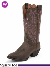 Justin Boots Women's Western Chocolate Puma Cow Boots L2562