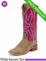 Justin Boots Womens Bent Rail Tan Vintage Cow Boots BRL311 CLEARANCE