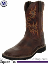 Justin Rugged Tan Cowhide Stampede Collection Cowboy Boots 4681