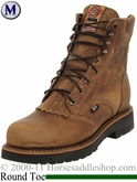 Justin Rugged Tan Gaucho Steel Toe Boots 441
