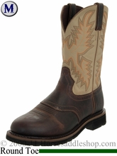 Justin Waxy Brown Stampede Collection Work Boot 4660