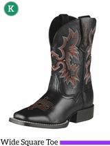 Kid's Ariat Black Deertan Tombstone Boots 10007845