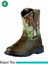 Kid's Ariat Distressed Brown Camo Sierra Boots 10006747