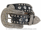 Ladies Nocona Belt - Blazin Roxx - Black n3513001