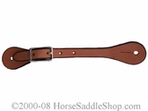 Ladies or Youth Boot Spur Straps Honey with Stained Edges wv300671