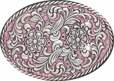 Ladies Pink Rhinestone Belt Buckle by Nocona 37550