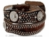 Ladies' Scalloped & Calf Hair Belt - Brown n3416102