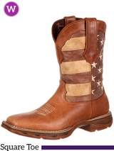 Lady Rebel by Durango Faded Patriotic Flag Western Boot DRD0107
