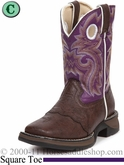 Li'l Flirt with Durango Girl's Brown Lacey Western Boot bt286 Sizes 8.5 - 3