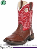 Li'l Flirt with Durango Girl's Brown Lacey Western Red Boots bt285