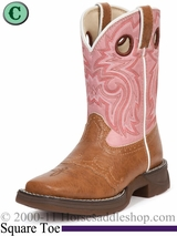 Li'l Flirt with Durango Girl's Tan Lacey Western bt287 Sizes 8.5 - 3
