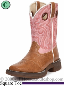 Li'l Flirt with Durango Girl's Tan Lacey Western bt387 Sizes 3.5 - 6