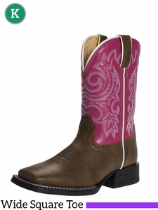 Lil Partners by Durango Girls Brown/Pink Western Boots BT217