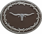 Longhorn Belt Buckle by Nocona